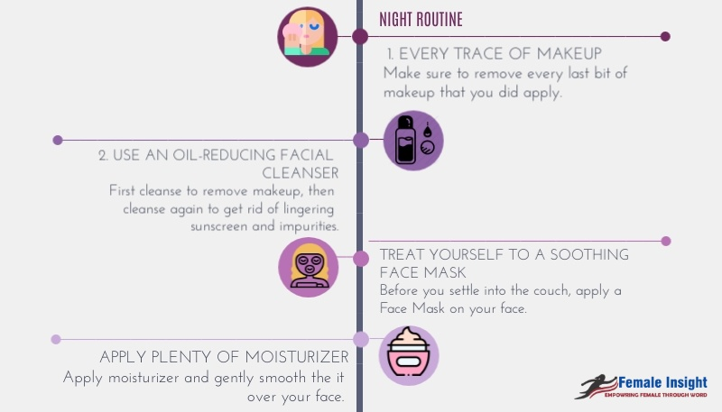 Night Care Routine During Summer