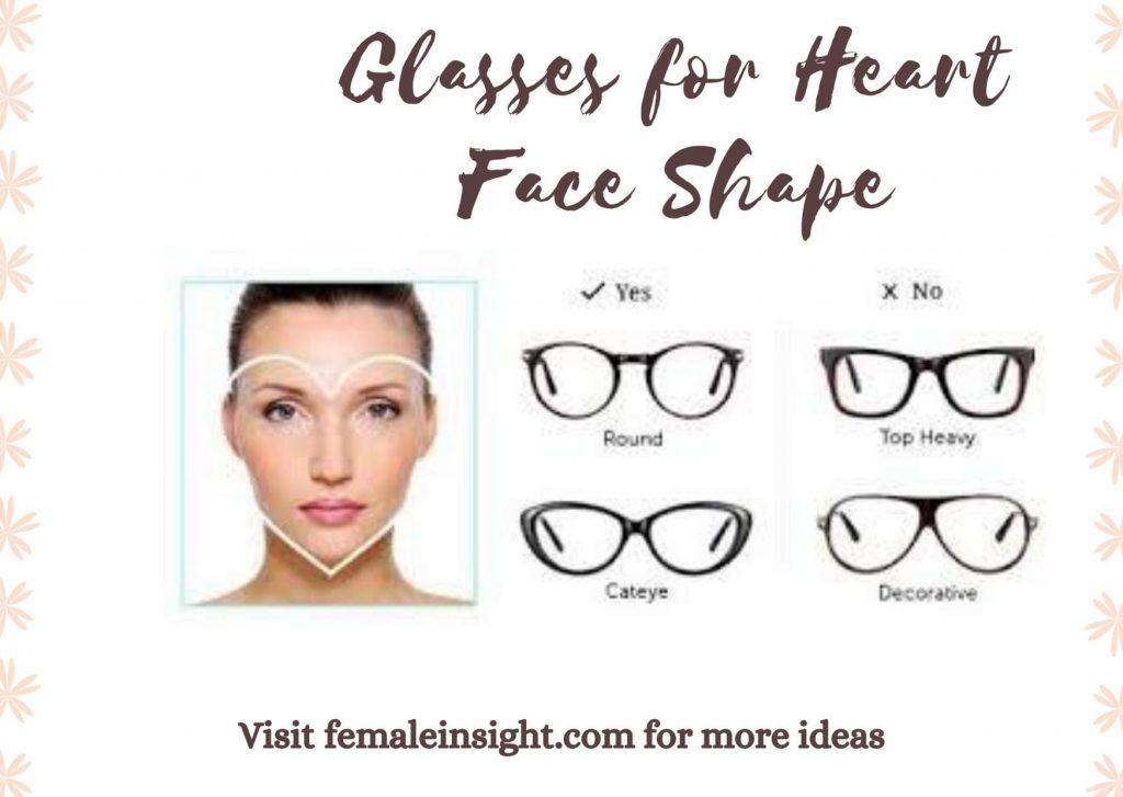 Glasses for Heart Face Shape