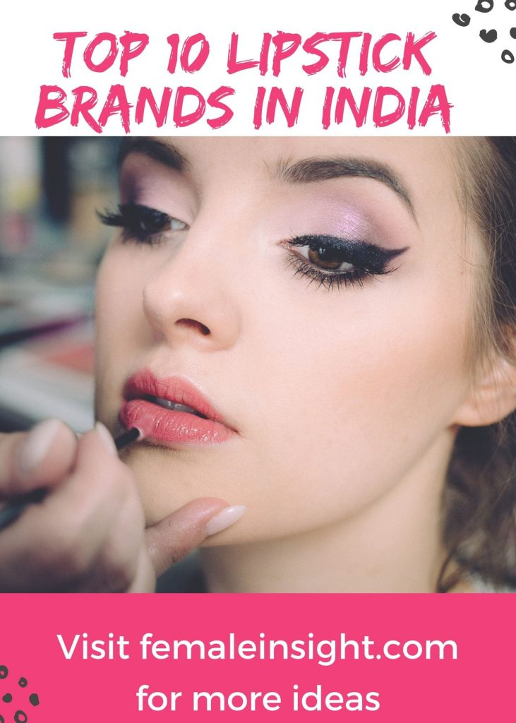 Top 10 Lipstick Brands in India Pin