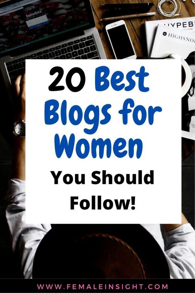 20 Best  Blogs for Women Pin