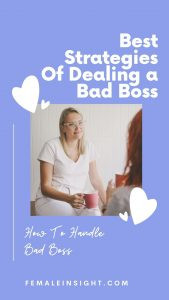 How To Handle Bad Boss
