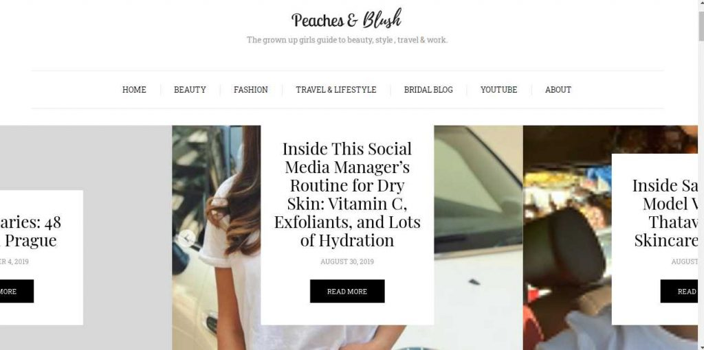 beauty blogs in India